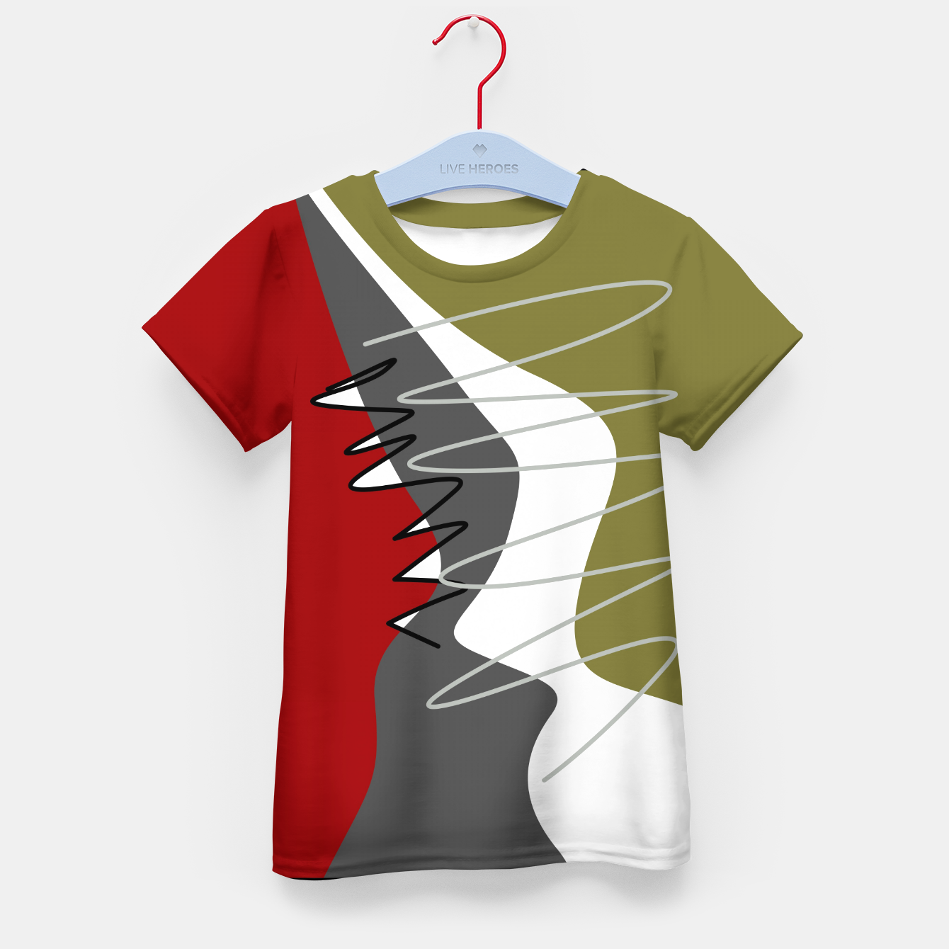 Image of abstract trendy multicolored pattern Kid's t-shirt - Live Heroes