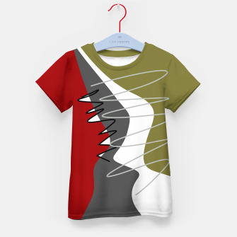 Thumbnail image of abstract trendy multicolored pattern Kid's t-shirt, Live Heroes