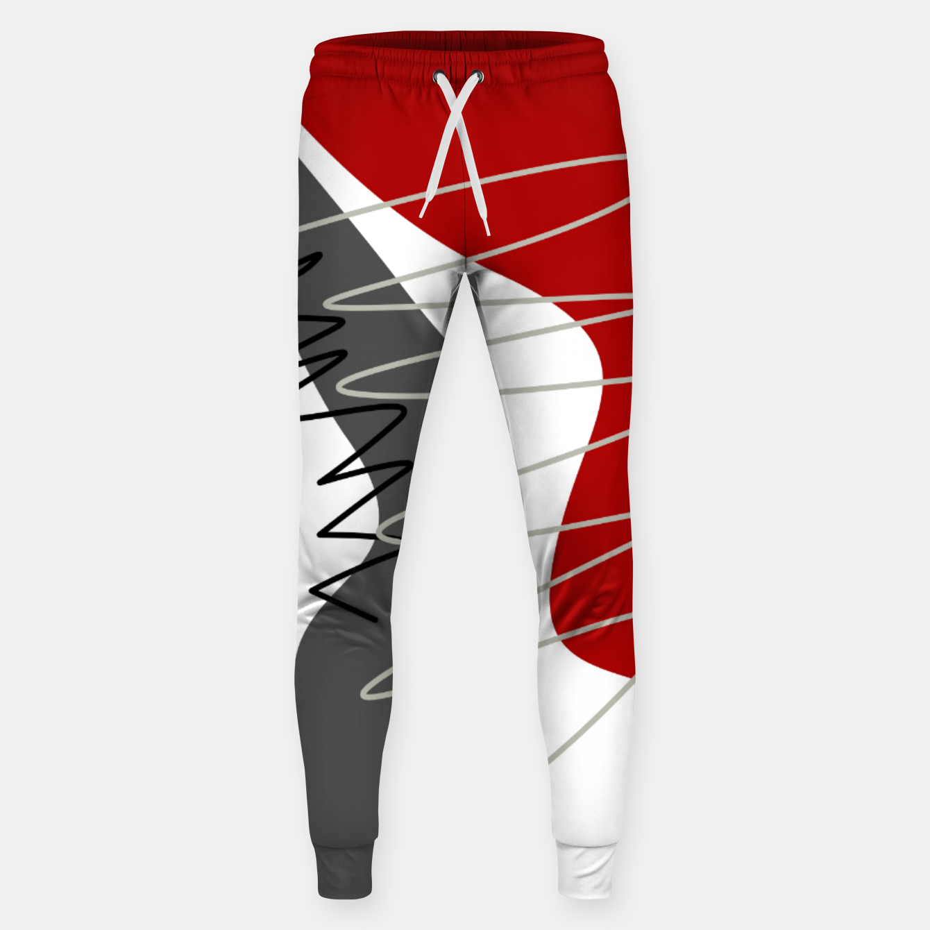 Image of  trendy  multicolored pattern  Sweatpants - Live Heroes