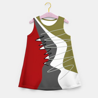 Thumbnail image of abstract trendy multicolored pattern Girl's summer dress, Live Heroes