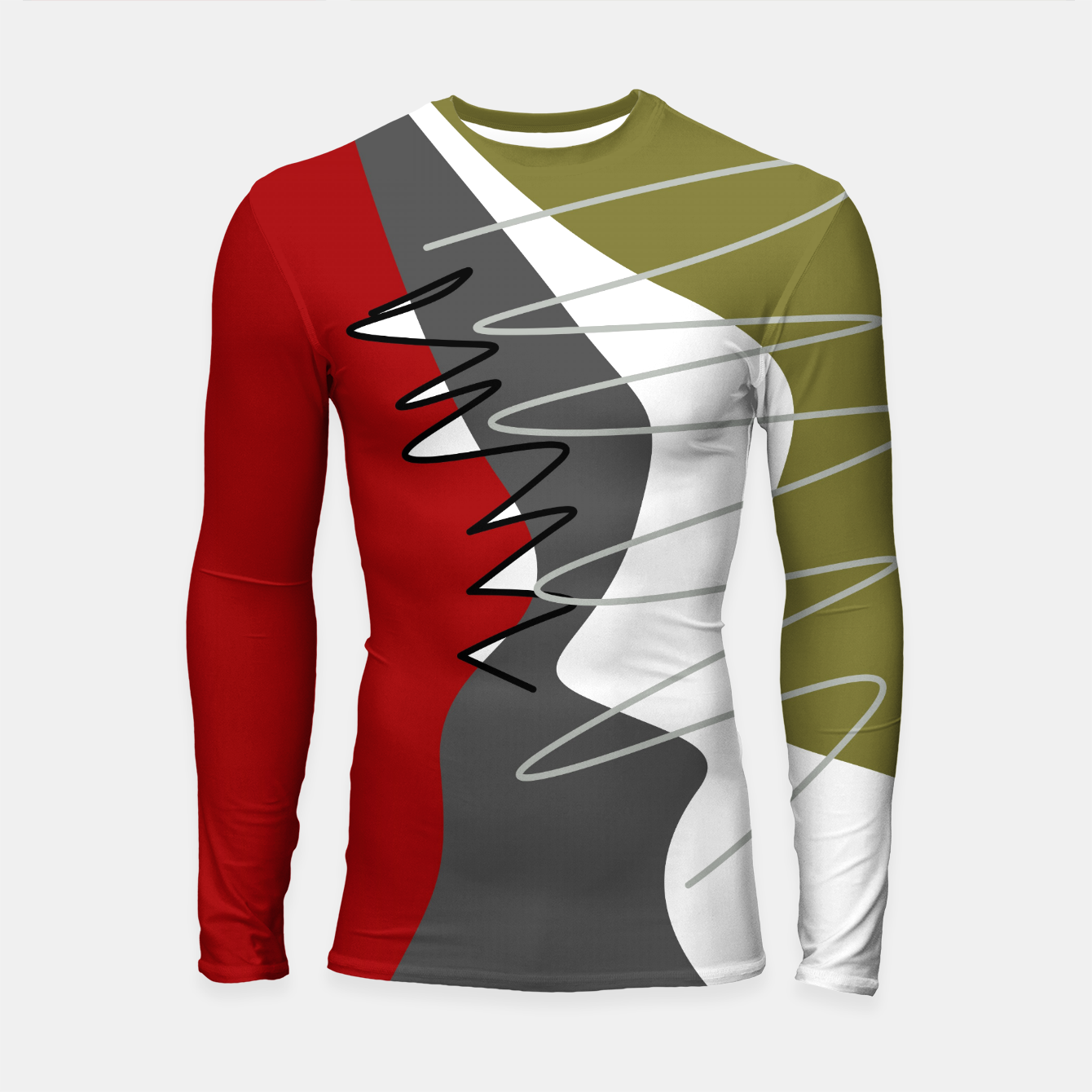 Image of abstract trendy multicolored pattern Longsleeve rashguard  - Live Heroes