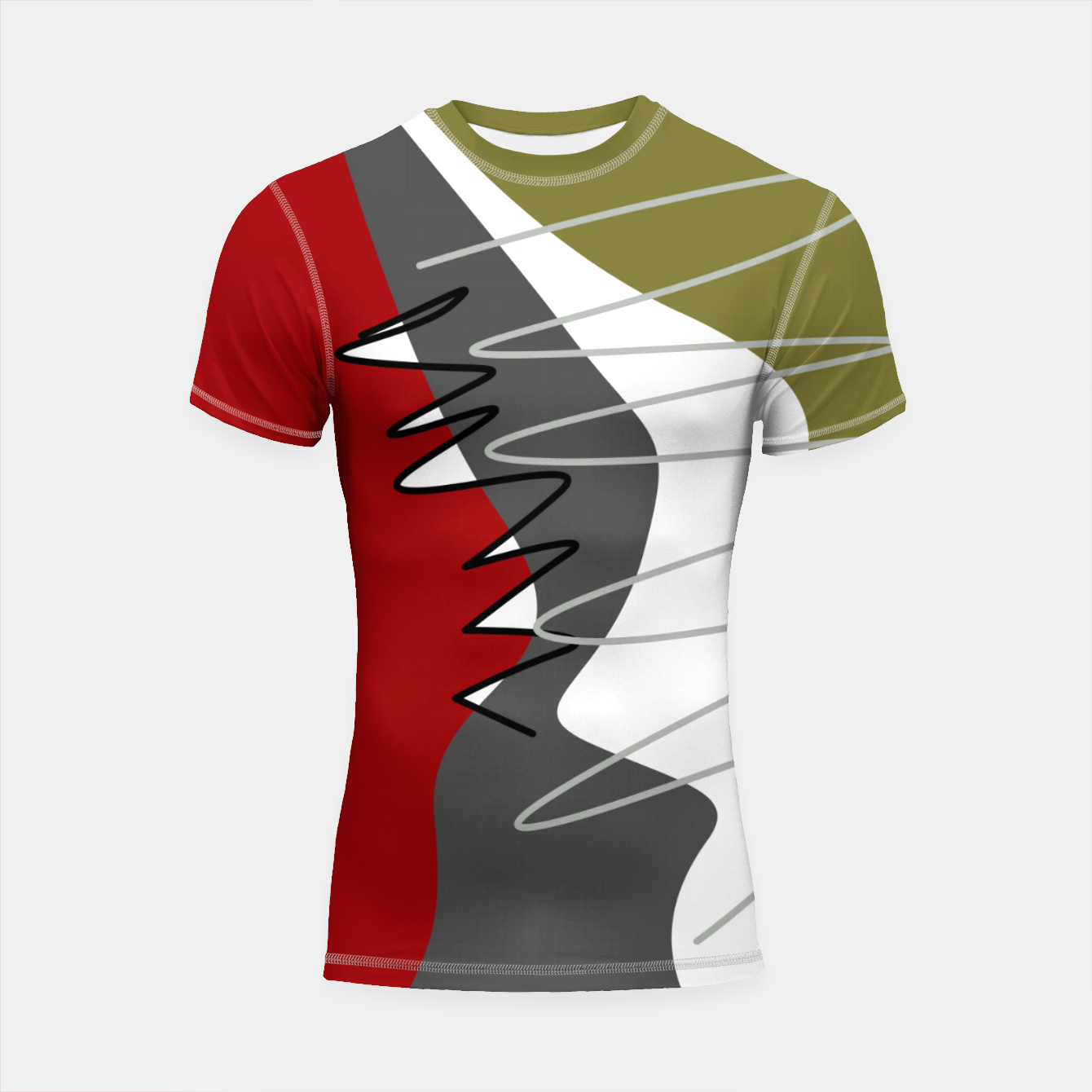 Image of abstract trendy multicolored pattern Shortsleeve rashguard - Live Heroes
