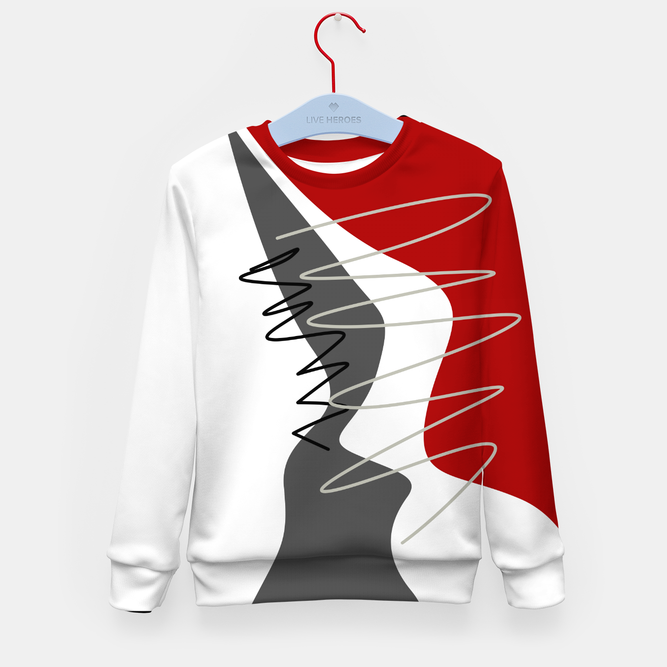 Image of  trendy  multicolored pattern  Kid's sweater - Live Heroes