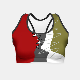 Thumbnail image of abstract trendy multicolored pattern Crop Top, Live Heroes