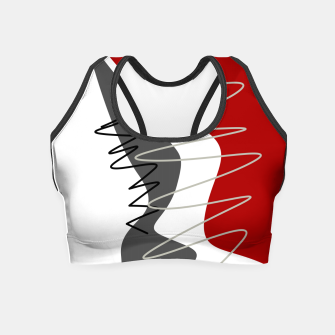 Thumbnail image of  trendy  multicolored pattern  Crop Top, Live Heroes