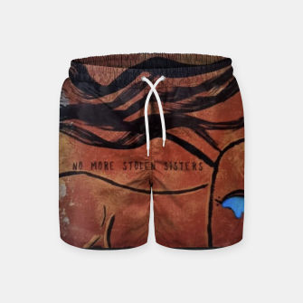 Thumbnail image of No More Stolen Sisters Swim Shorts, Live Heroes