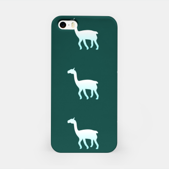 Thumbnail image of Llama on green iPhone Case, Live Heroes