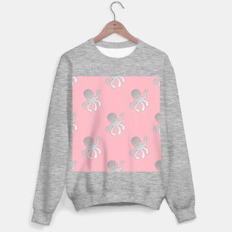 Thumbnail image of Silver octopus on pink Sweater regular, Live Heroes