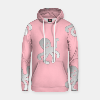 Thumbnail image of Silver octopus on pink Hoodie, Live Heroes