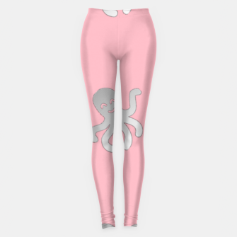 Thumbnail image of Silver octopus on pink Leggings, Live Heroes