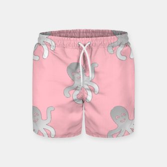 Thumbnail image of Silver octopus on pink Swim Shorts, Live Heroes