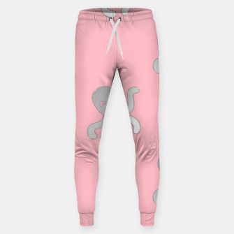 Thumbnail image of Silver octopus on pink Sweatpants, Live Heroes