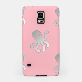 Thumbnail image of Silver octopus on pink Samsung Case, Live Heroes