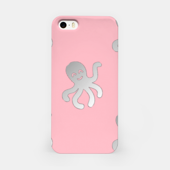 Thumbnail image of Silver octopus on pink iPhone Case, Live Heroes