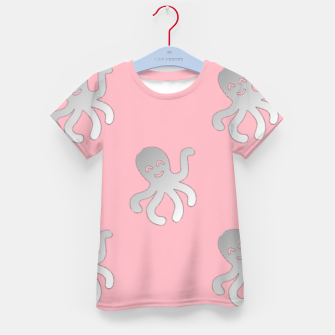 Thumbnail image of Silver octopus on pink Kid's t-shirt, Live Heroes