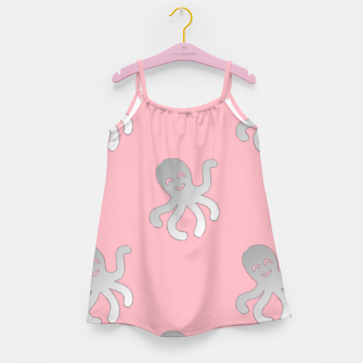 Thumbnail image of Silver octopus on pink Girl's dress, Live Heroes