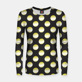 Thumbnail image of Gold dots on black Women sweater, Live Heroes