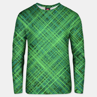 Thumbnail image of Diagonal Line Pattern (Green) Unisex sweater, Live Heroes