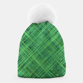 Thumbnail image of Diagonal Line Pattern (Green) Beanie, Live Heroes