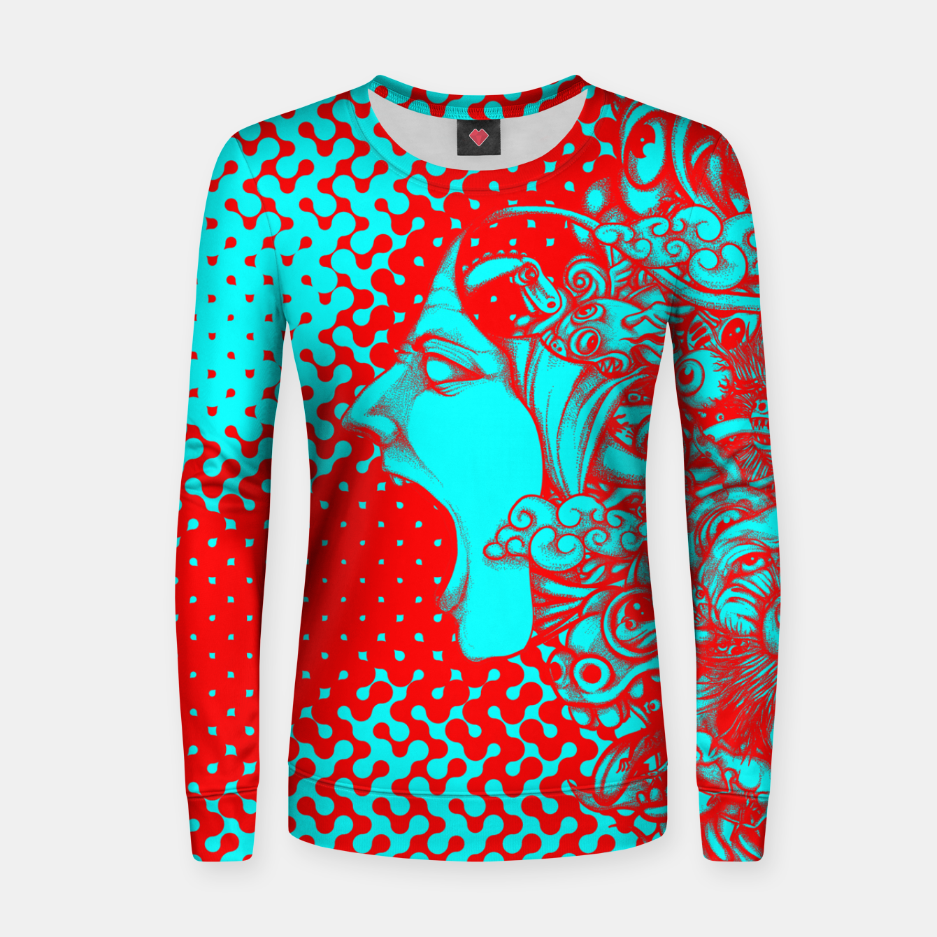 Image of Scream Doodle Color Women sweater - Live Heroes