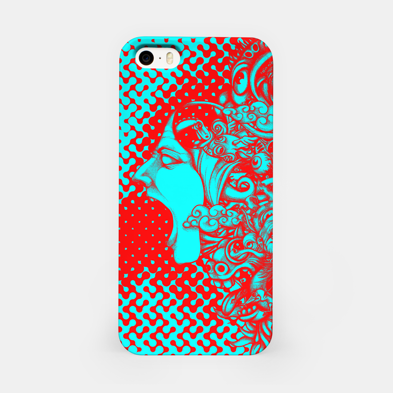 Image of Scream Doodle Color iPhone Case - Live Heroes