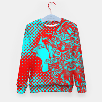 Scream Doodle Color Kid's sweater thumbnail image