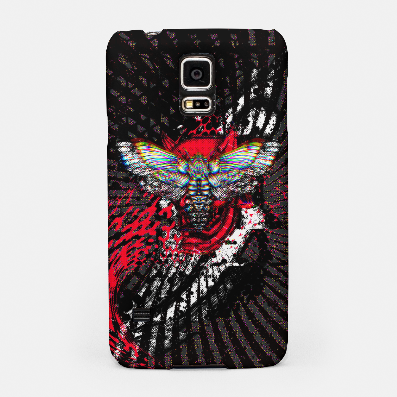 Image of Moth Glitch Samsung Case - Live Heroes