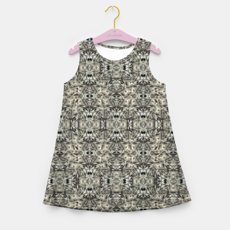 Thumbnail image of Steampunk Camouflage Print Pattern Girl's summer dress, Live Heroes