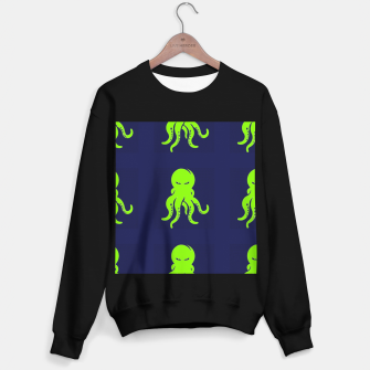 Thumbnail image of Green octopus on blue Sweater regular, Live Heroes