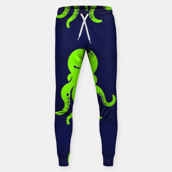 Thumbnail image of Green octopus on blue Sweatpants, Live Heroes