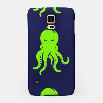 Thumbnail image of Green octopus on blue Samsung Case, Live Heroes