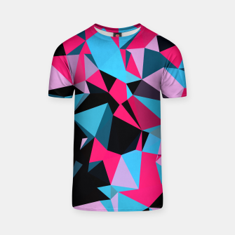 Thumbnail image of Pink Blue and Black Geo Print Unisex T-Shirt, Live Heroes