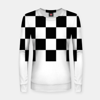Thumbnail image of Checkered pattern Women sweater, Live Heroes