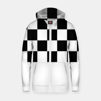 Thumbnail image of Checkered pattern Zip up hoodie, Live Heroes