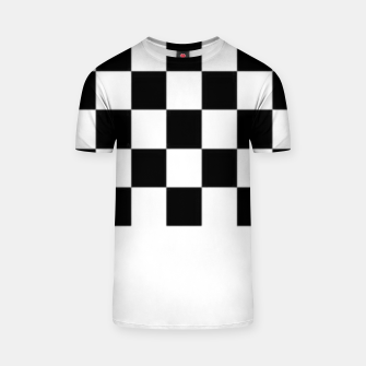 Thumbnail image of Checkered pattern T-shirt, Live Heroes