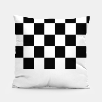 Thumbnail image of Checkered pattern Pillow, Live Heroes