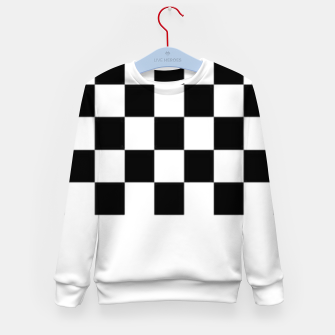 Thumbnail image of Checkered pattern Kid's sweater, Live Heroes