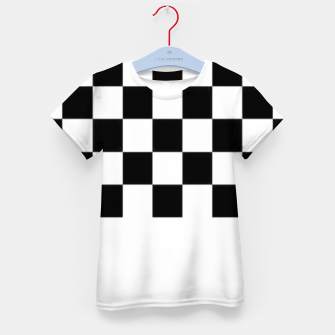Thumbnail image of Checkered pattern Kid's t-shirt, Live Heroes