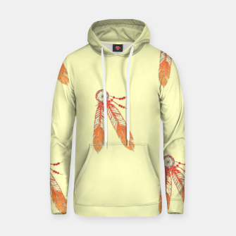 Thumbnail image of Red and orange feathers Hoodie, Live Heroes