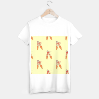 Thumbnail image of Red and orange feathers T-shirt regular, Live Heroes