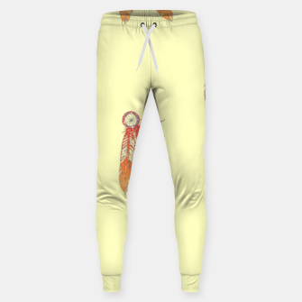 Thumbnail image of Red and orange feathers Sweatpants, Live Heroes
