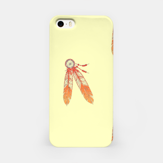 Thumbnail image of Red and orange feathers iPhone Case, Live Heroes