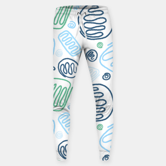 Thumbnail image of Blue One Line Shapes Sweatpants, Live Heroes