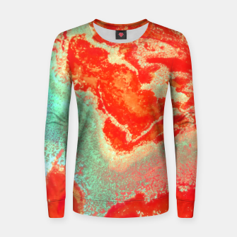 Thumbnail image of Sea Green and Coral Women sweater, Live Heroes