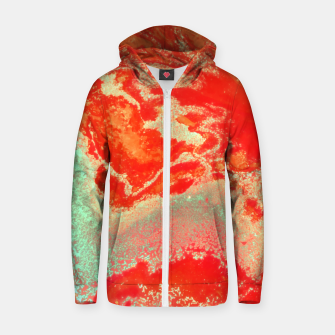 Thumbnail image of Sea Green and Coral Zip up hoodie, Live Heroes
