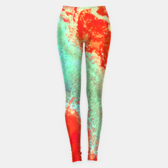 Thumbnail image of Sea Green and Coral Leggings, Live Heroes
