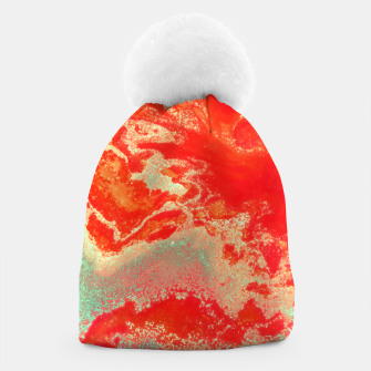 Thumbnail image of Sea Green and Coral Beanie, Live Heroes