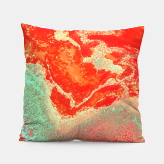 Thumbnail image of Sea Green and Coral Pillow, Live Heroes