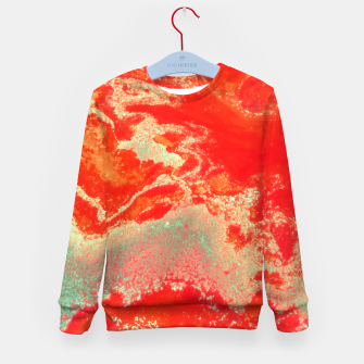 Thumbnail image of Sea Green and Coral Kid's sweater, Live Heroes
