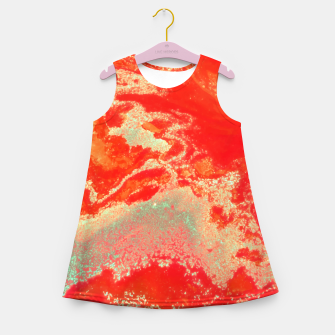 Thumbnail image of Sea Green and Coral Girl's summer dress, Live Heroes